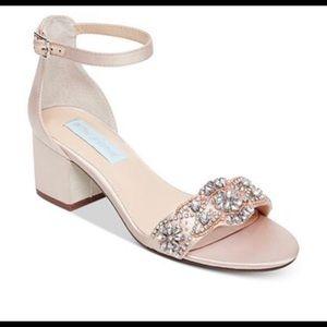 Size 10 Betsy Johnson open-toe heels